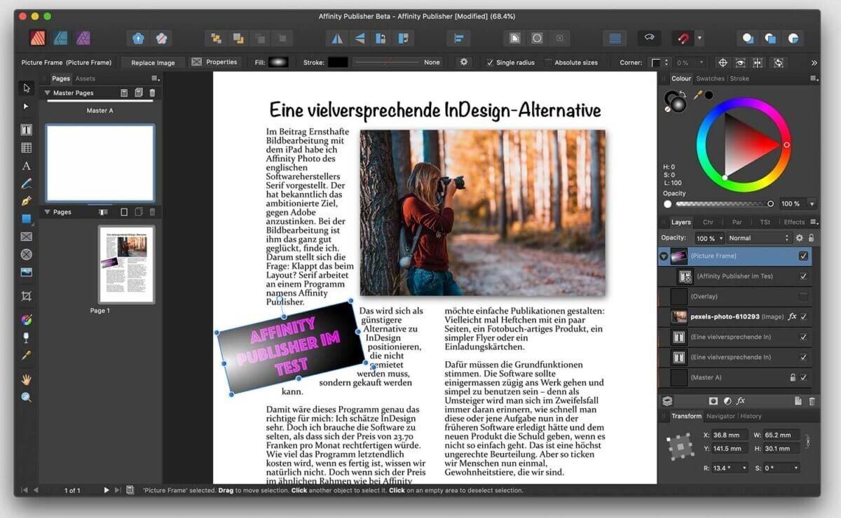 Eine vielversprechende InDesign-Alternative