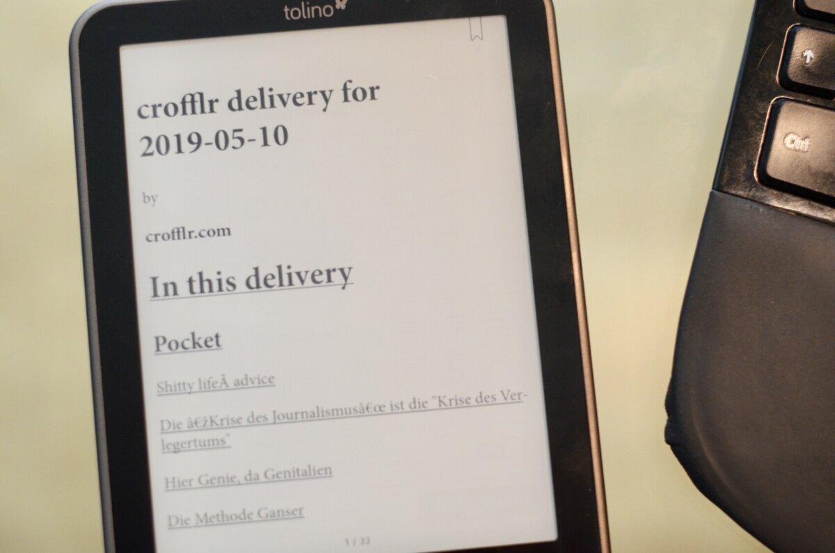 Wie man Internet-Lektüre aufs E-Book-Lesegerät bringt