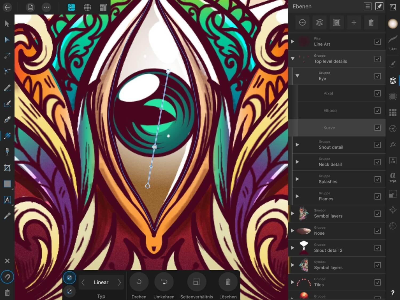 Affinity Designer Verlauf